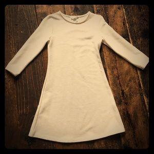 Cream long sleeve dress